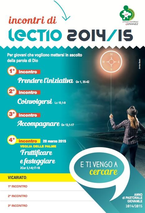 Locandina Lectio 2014 - 2015