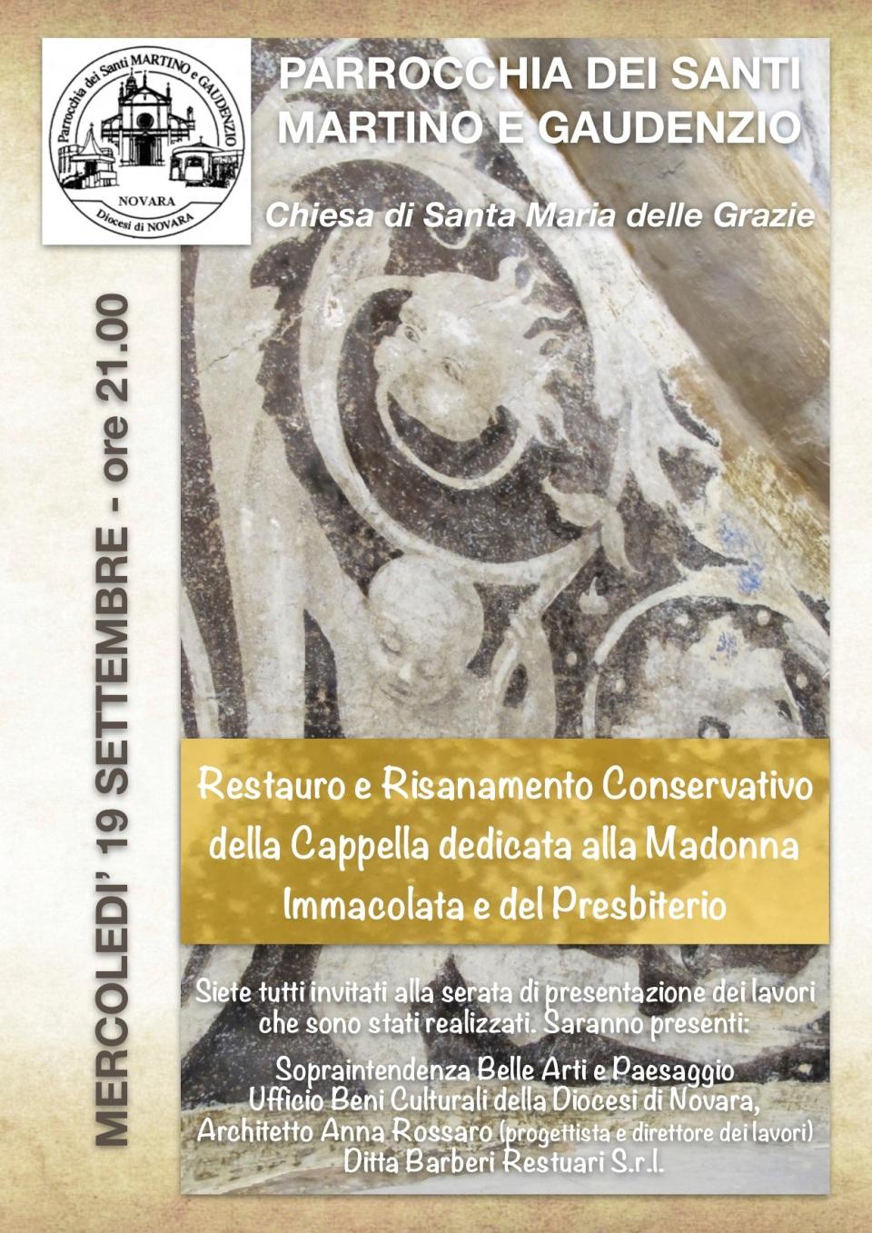 180919 Locandina presentazione restauri Chiesa Parrocchiale
