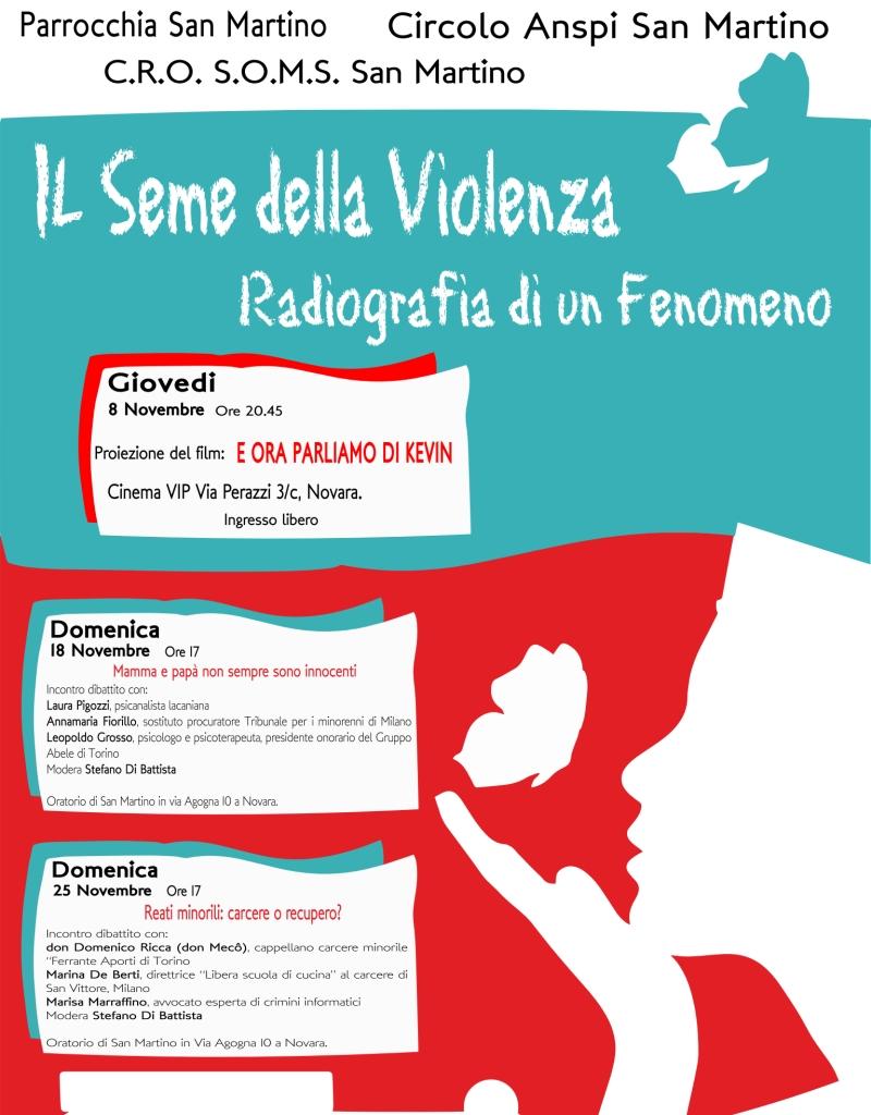 locandina progetto SOMS seme violenza 2018