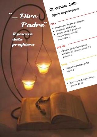 locandina preghiera venerdì quaresima 2019