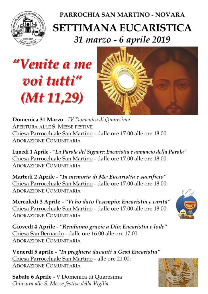 Settimana Eucaristica 2019 - Manifesto
