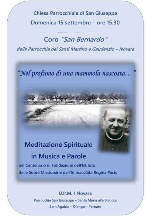 190915 Locandina Meditazione Spirituale Novara San Guseppe Corale San Bernardo