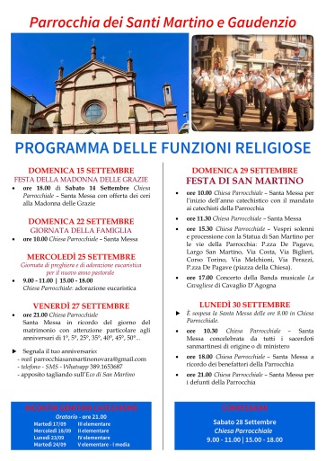 manifesto religioso festa patronale 2019