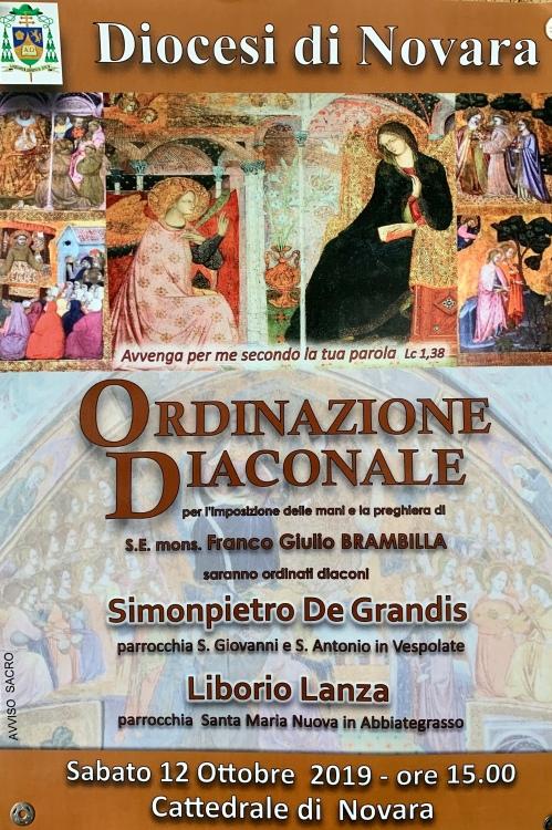 locandina ordinazioni diaconali 12-10-19