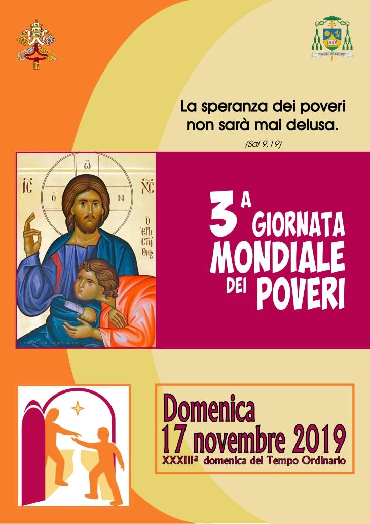 locandina III giornata mondiale poveri 2019