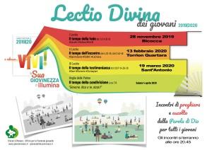locandina lectio divina vicariato novara 2019 - 2020