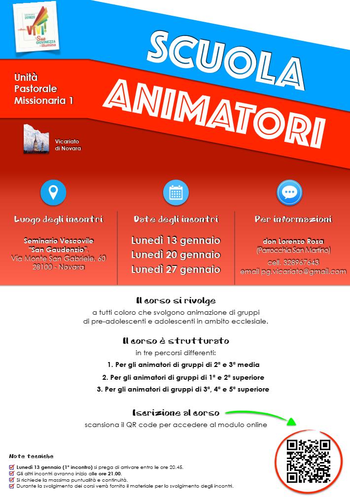 locandina scuola animatori vicariato novara 2020