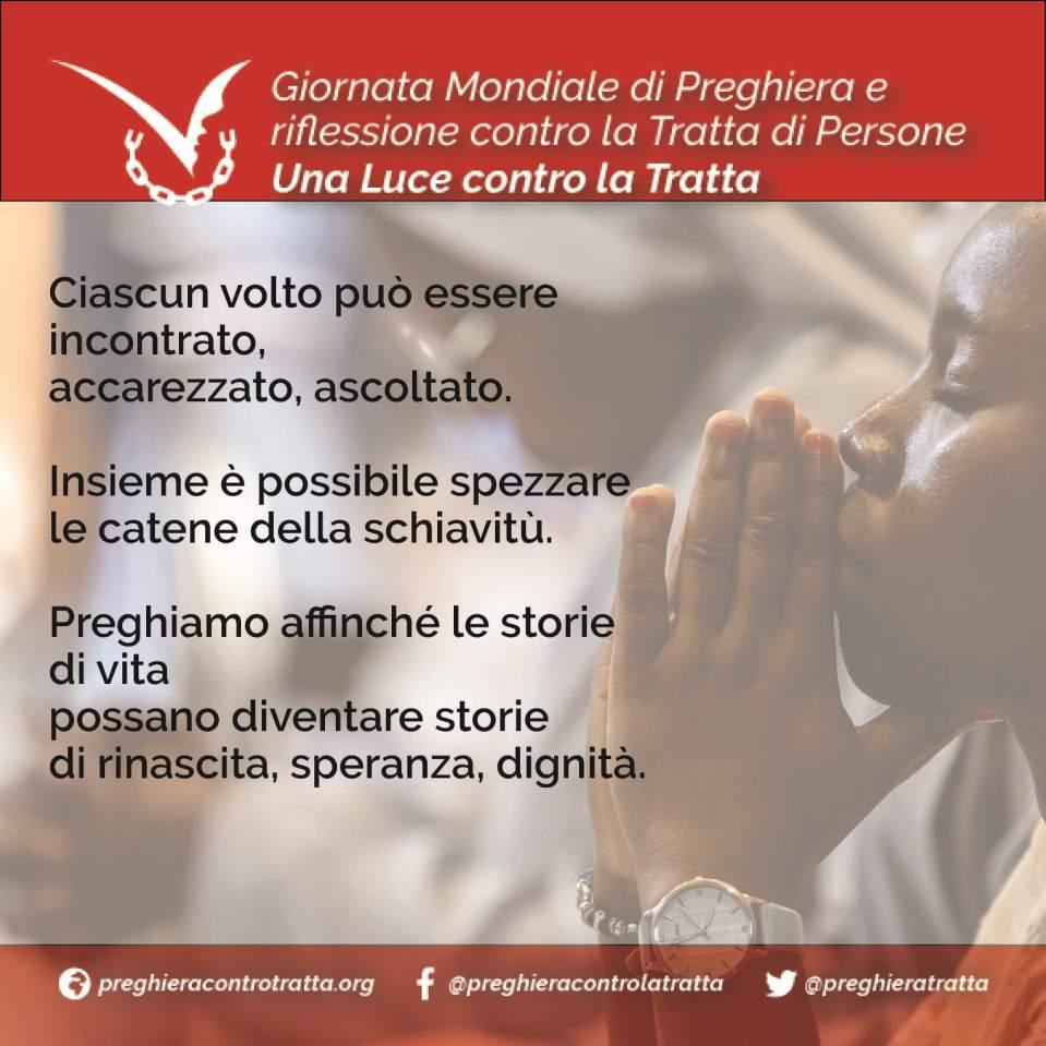locandina giornata mondiale preghiera contro la tratta