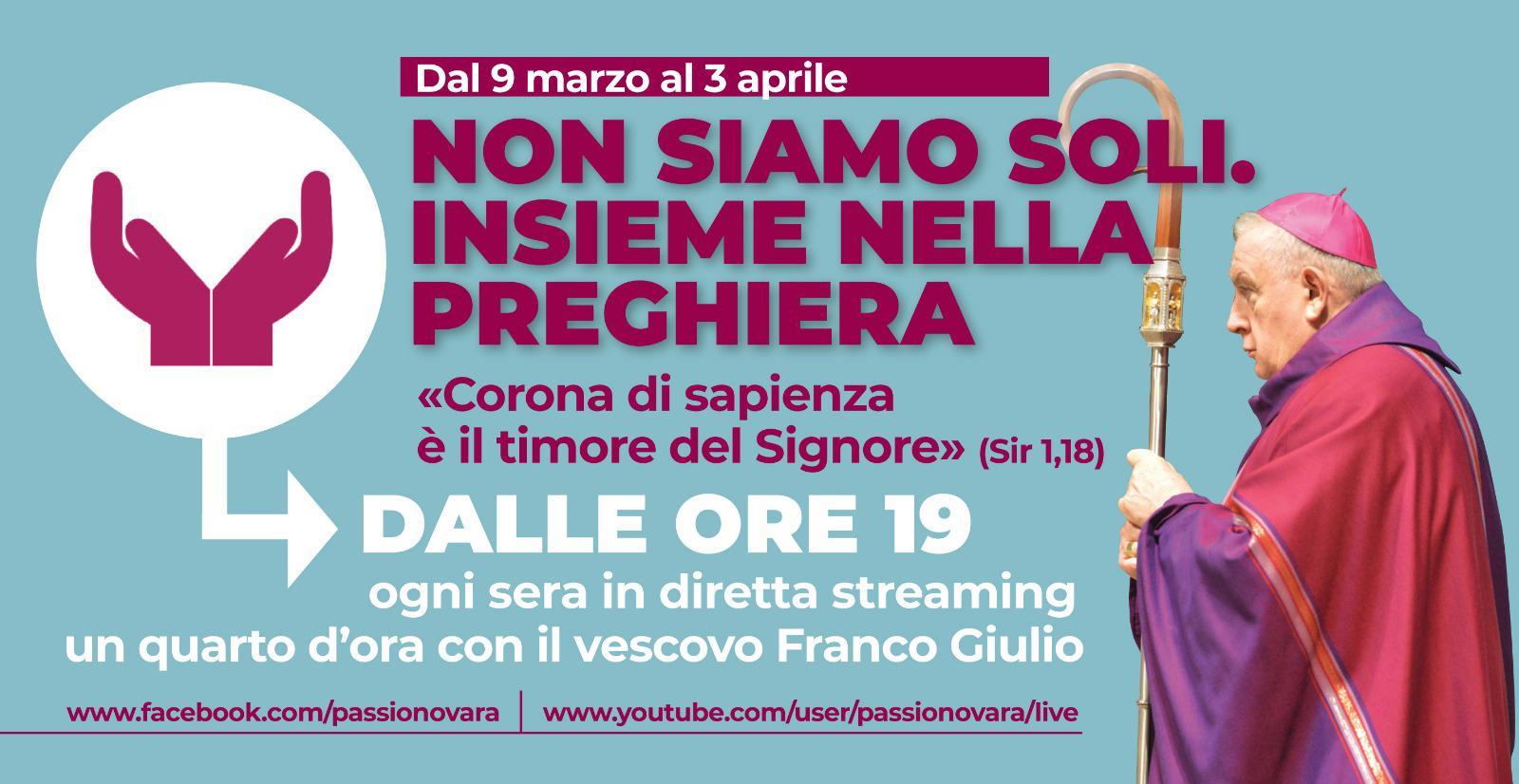 200308 banner diretta streaming vescovo franco giulio quaresima
