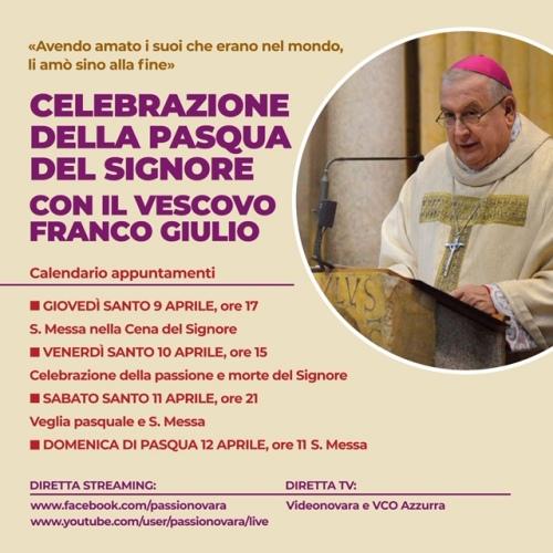 200405 banner diretta celebrazioni triduo pasquale vescovo