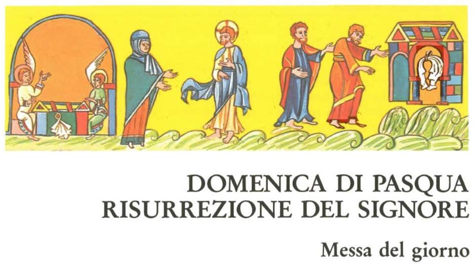 domenica di pasqua risurrezione del signore