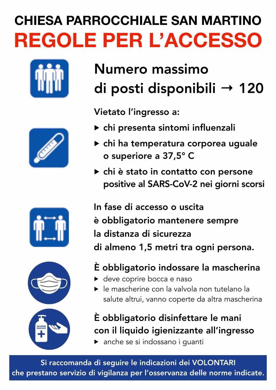 200518 cartello ripresa messe popolo chiesa parrocchiale norme accesso