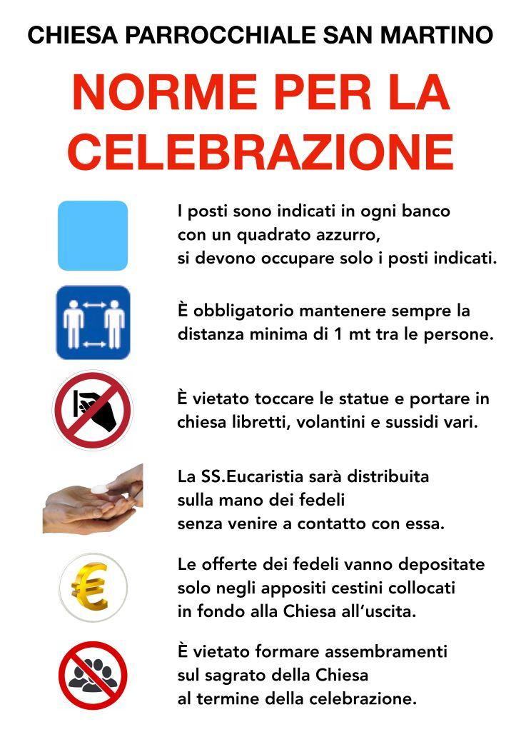 200518 cartello ripresa messe popolo chiesa parrocchiale norme celebrazione